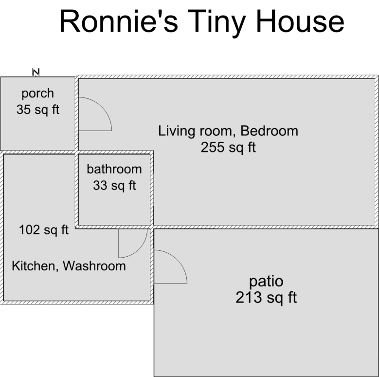 Ronnie's Tiny House Floor Plan