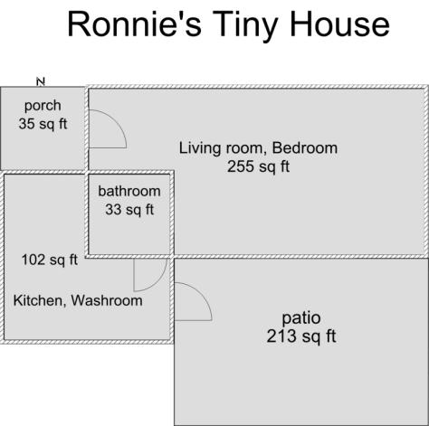 Ronnie's Tiny House Floor Plan