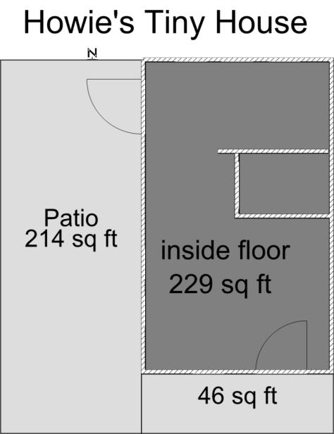 Howie's Tiny House Floor Plan