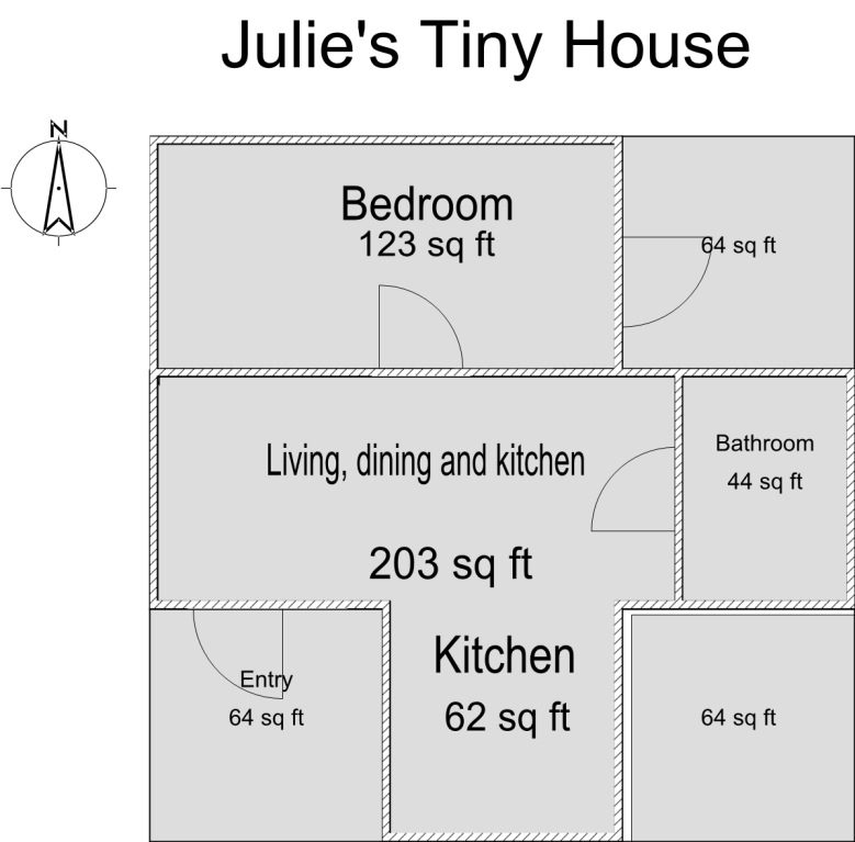 Julie's Tiny House Floor Plan