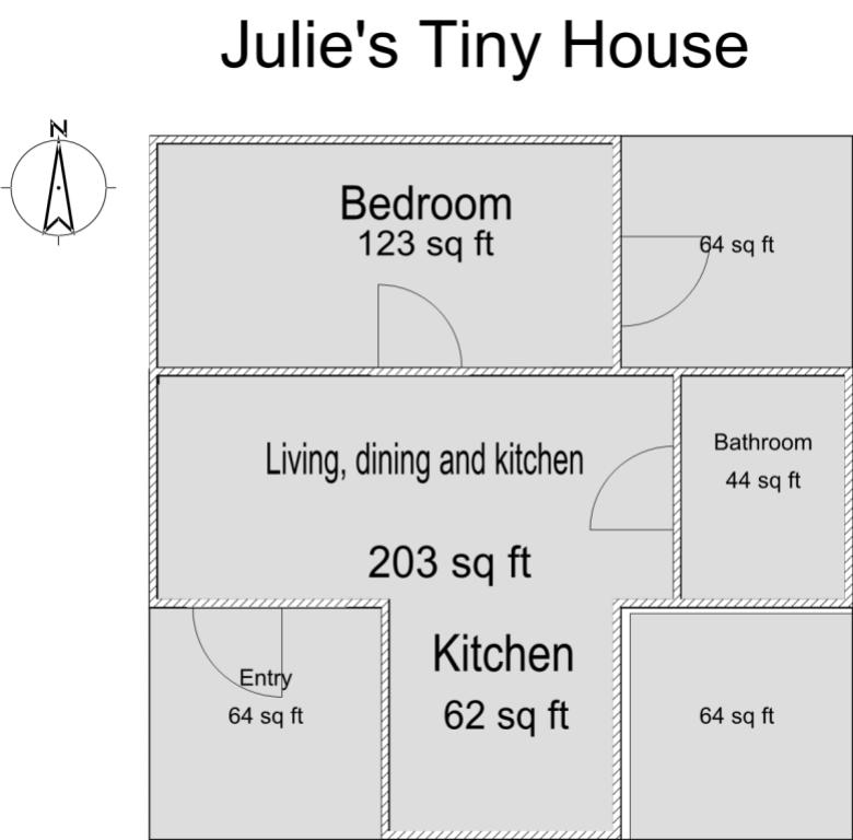 Julie's Tiny House Floor Plan