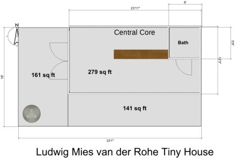 Mies van der Rohe Tiny House Floor Plan