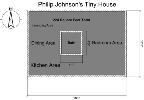 Philip Johnson Tiny House Floor Plan