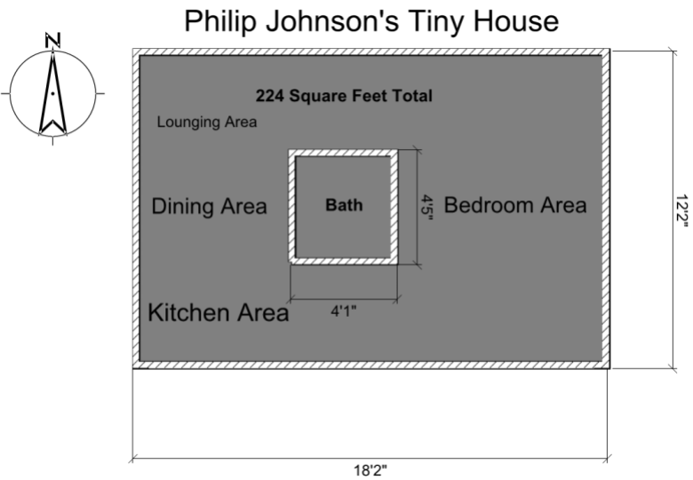 Philip Johnson Tiny House Floor Plan