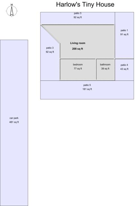 Harlow's Tiny House Floor Plan