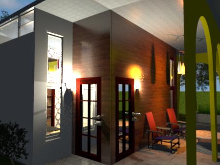 Charlie's Tiny House: Mid Century Modern