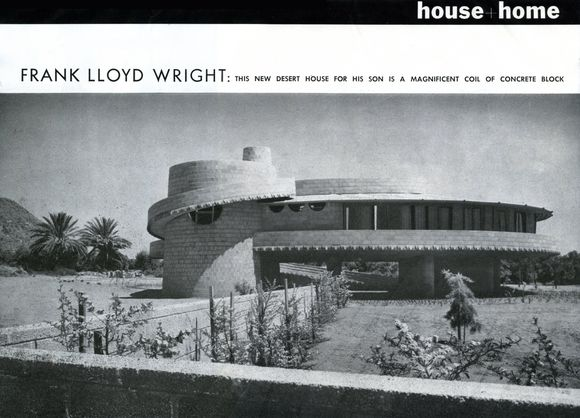 House + Home Magazine Article on the David and Gladys Wright Home, June 1953.