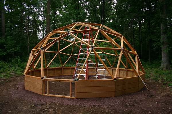 What about a dome modern tiny house for Geodesic home plans